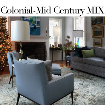 HOMESTEAD HOUSE CALL – A Christmas visit to a house that is a Colonial – Mid Century mix.