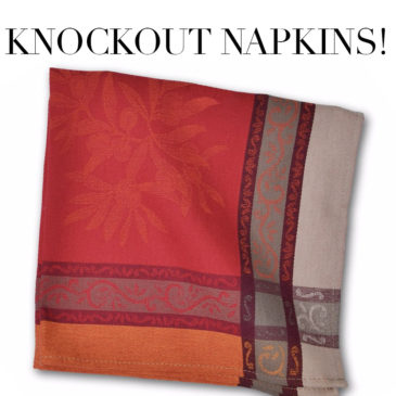 NATURAL INSPIRATION – Napkins that make a statement!