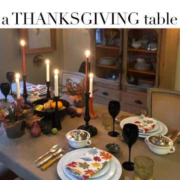 I SHOP FOR YOU – A Thanksgiving table + 3 links with lots of ideas.